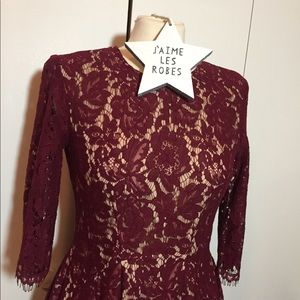 Do + Be Wine Red Lace Dress